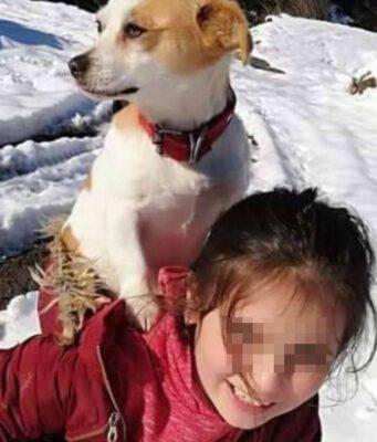 bambina cane schiena veterinario