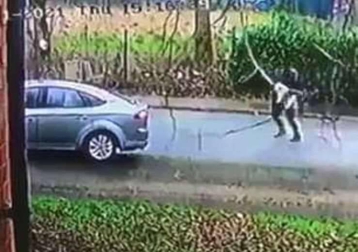 Il rapimento del cane ripreso da una telecamera (Screen Video)
