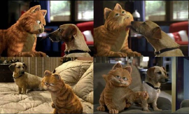 Garfield film Odie
