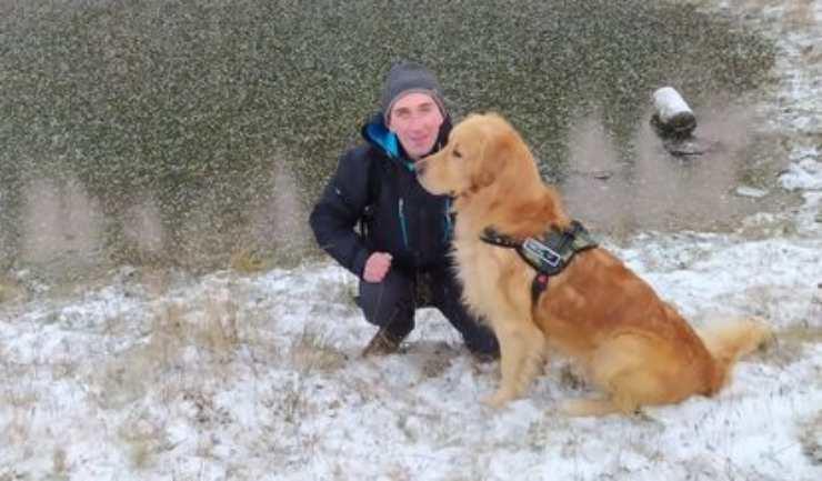Il cane eroe (Foto Facebook)