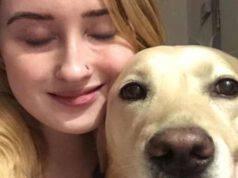 Kimberley e il cane (Foto Facebook)