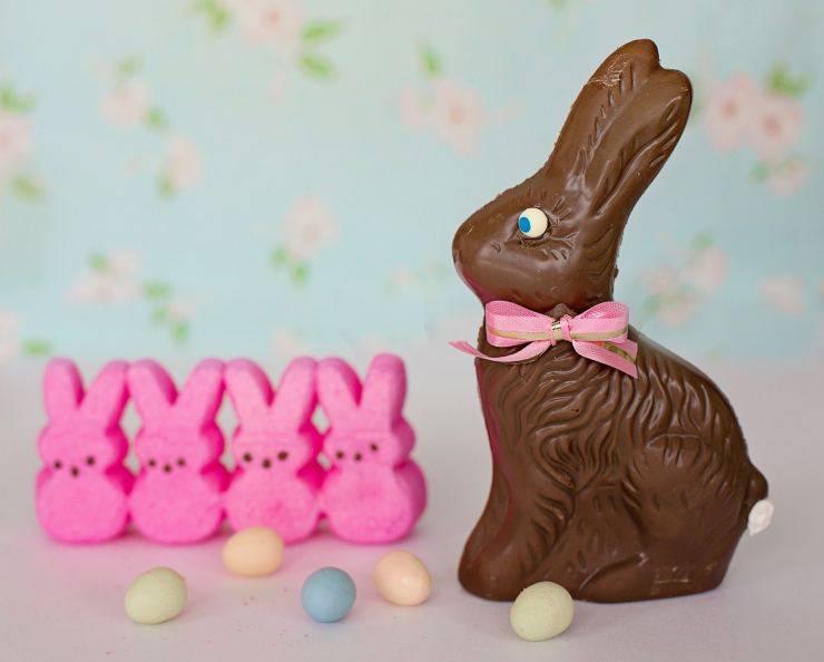 scatola coniglietti cioccolato caramelle