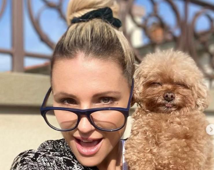 Michelle Hunziker e il suo cane Lilly
