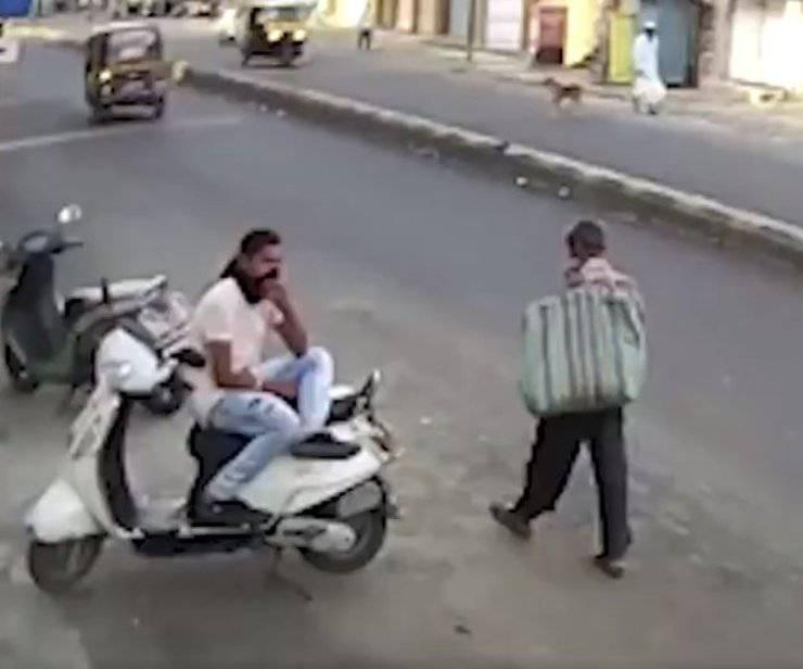 uomo fa incidente video