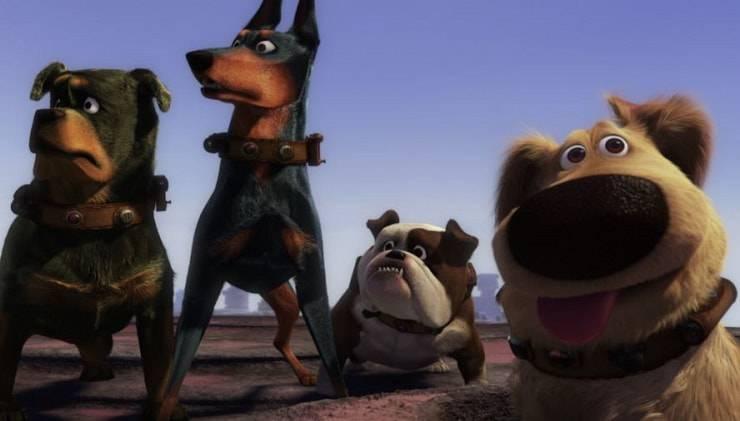 quattro cani cartone Up