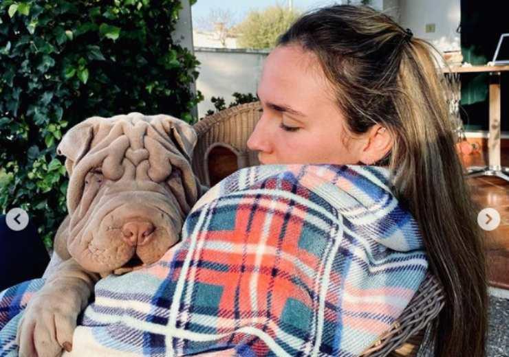 Il cane e la padrona (Foto Instagram)