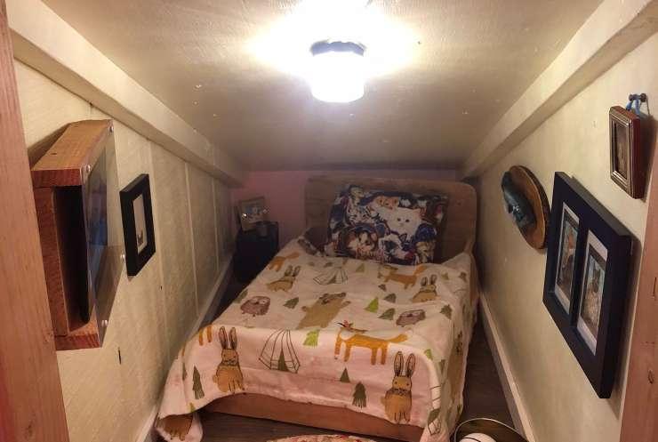 La stanza in miniatura (Foto Twitter)