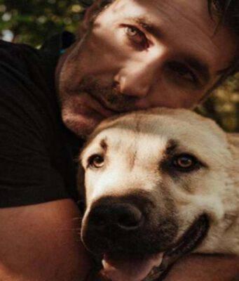 Raoul Bova e il cane (Foto Instagram)