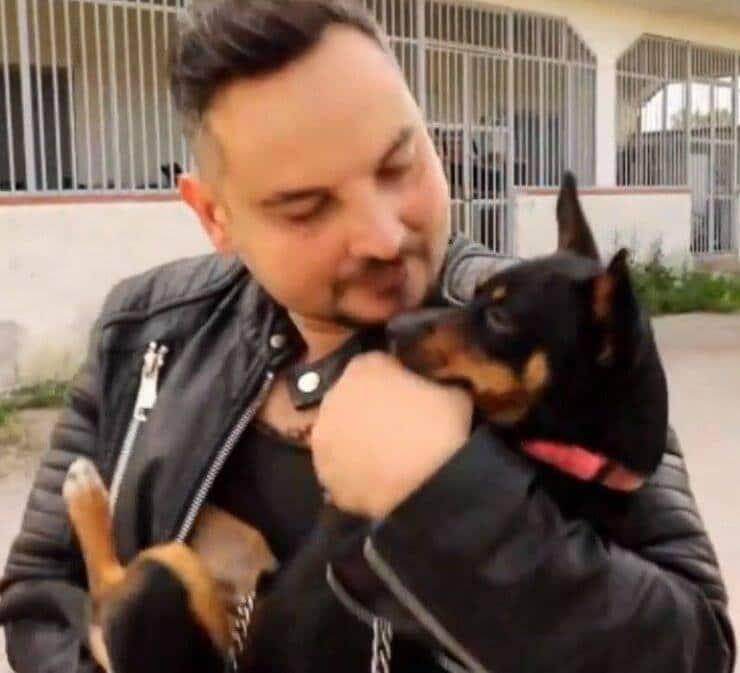 Nunzio Bellino e Chicco nel corto (Screen Video)