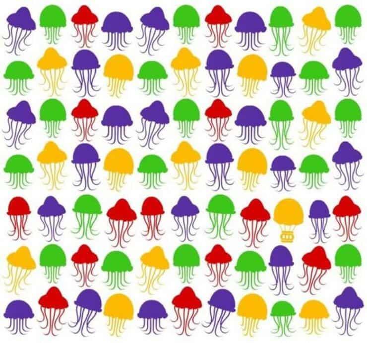 Il test visivo delle meduse e della mongolfiera