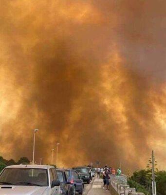 Incendio Sardegna (Screen Facebook)