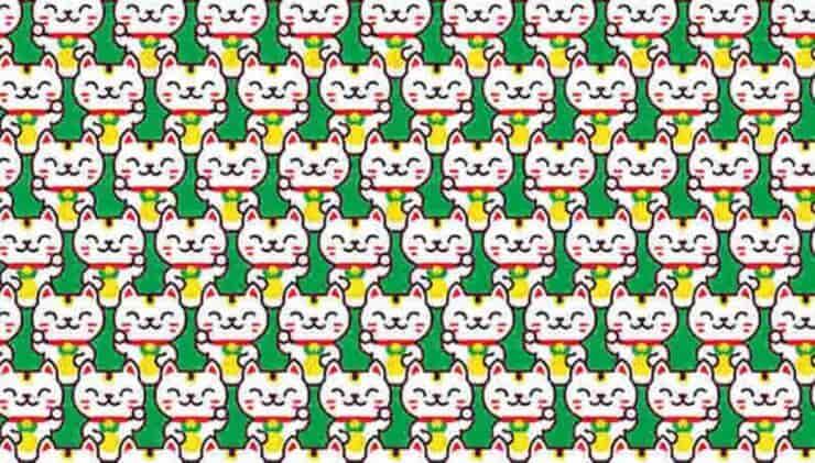 Il test visivo dei Maneki neko: Trova tutti i gatti cinesi diversi dagli altri