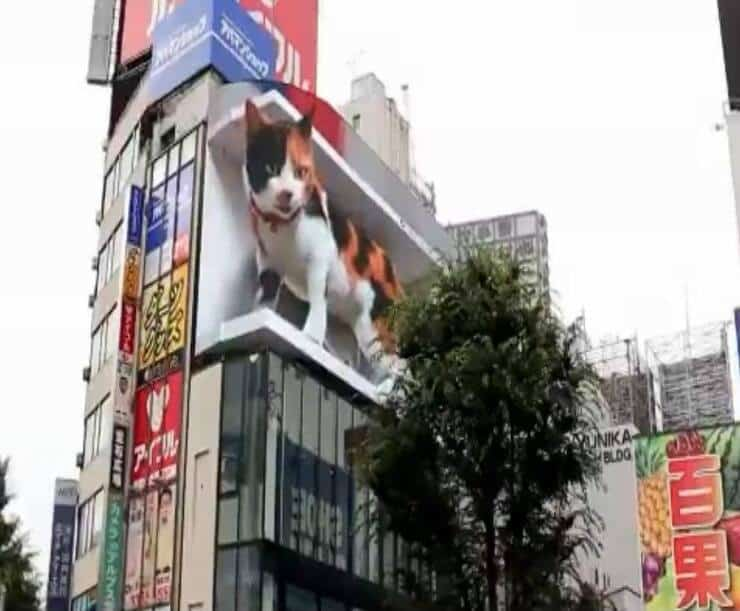 Cartellone pubblicitario Tokyo (Screen video Twitter)