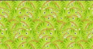 test visivo dei 10 secondi : trova il coccodrillo nascosto tra i camaleonti