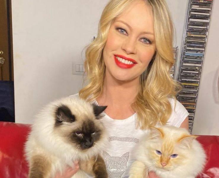Anna Falchi: chi sono i suoi gatti