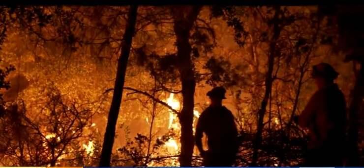 L'incendio devasta l'intera proprietà dell'uomo (Screen Video)