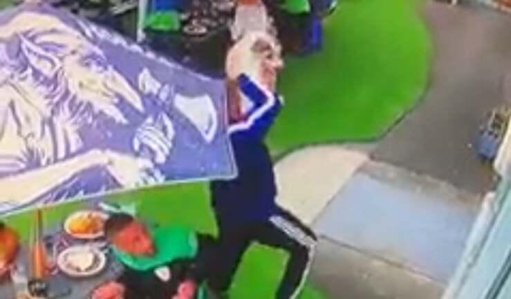 Uomo eroe prende al volo un cane che stava precipitando dalla finestra di un palazzo (Screen Video)
