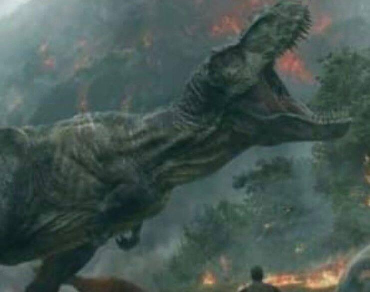 Scena del film Jurassic World (Screen Facebook)